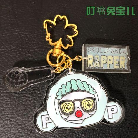 叮噹兔宝儿diy手工钥匙扣书包链skullpanda熊喵热潮系列嘻哈哈