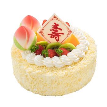京集送老人祝寿创意蛋糕寿桃定制生日蛋糕14寸