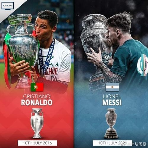 梅西c罗同日夺冠# 2021年7月10日,梅西在阿根廷队夺得美洲杯冠军.