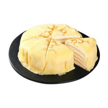 预售山姆超市榴莲千层蛋糕约6寸 苏丹王榴莲蛋糕下午茶蛋糕650g 白色