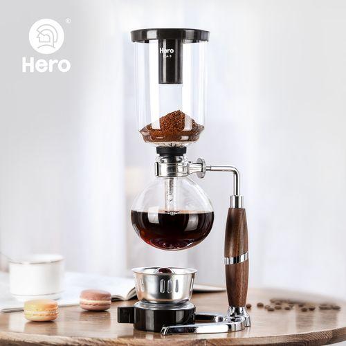 hero英雄咖啡壶 家用咖啡机 虹吸式 玻璃虹吸壶 手动