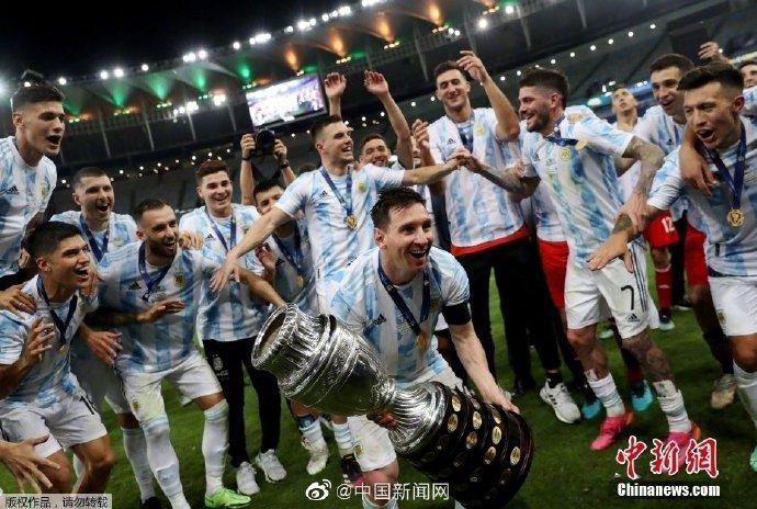 在巴西进行的2021年美洲杯决赛中,凭借迪玛利亚的进球,阿根廷1:0战胜