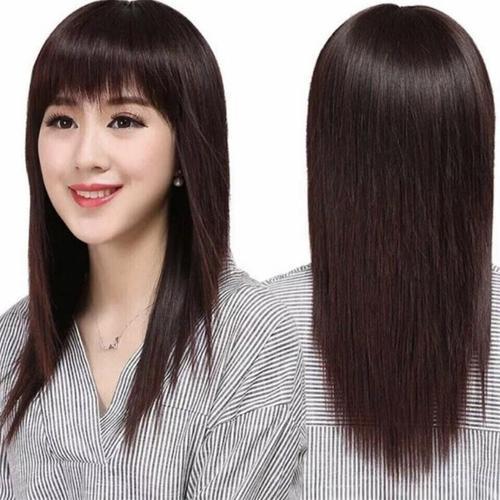 热销假发女长直发全头套假发套中老年妈妈假头发修脸